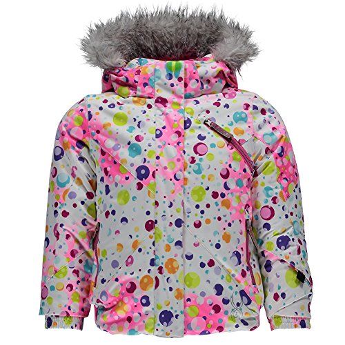 Spyder Girls Bitsy Lola Jacket, Size 4, Party Multi Print/Bryte Bubblegum by Spyder