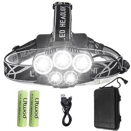 2018 New 3 Modes Bright 6 Led Head Lamp Light Torch Headlamp Headlight Headlamps