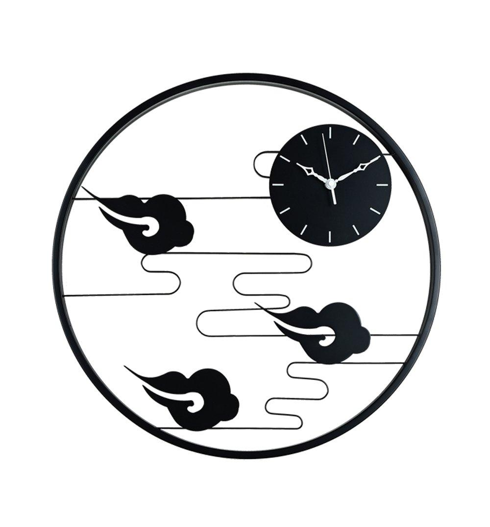 ZHENAI 金属 壁時計 円形 シンプル ミュート 背景装飾、 2スタイル ( 色 : 2# ) B07BTVWK85 2# 2#