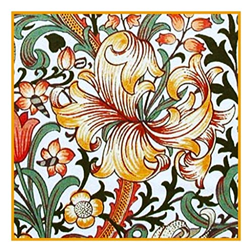 Orenco Originals Golden Lily by William Morris Counted Cross Stitch Pattern ()