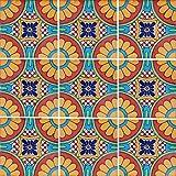 """Color y Tradicion 9 Mexican Tiles 4"""" x 4"""" Hand Painted Talavera C187"""