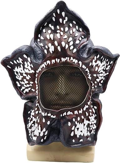 Vercico máscara Negra de Demogorgon para Cosplay, Accesorios de ...