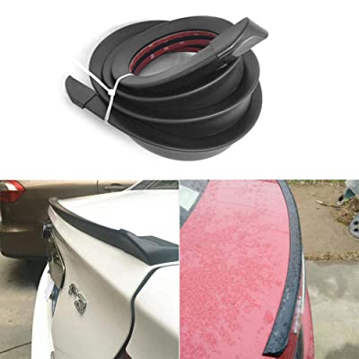 1.5m/4.92ft Universal Car Rubber Strip Bar Spoiler Tailfin Tail Fin Rear Wing Tailgate Hatchback for Most Popular Carsh: Car Electronics