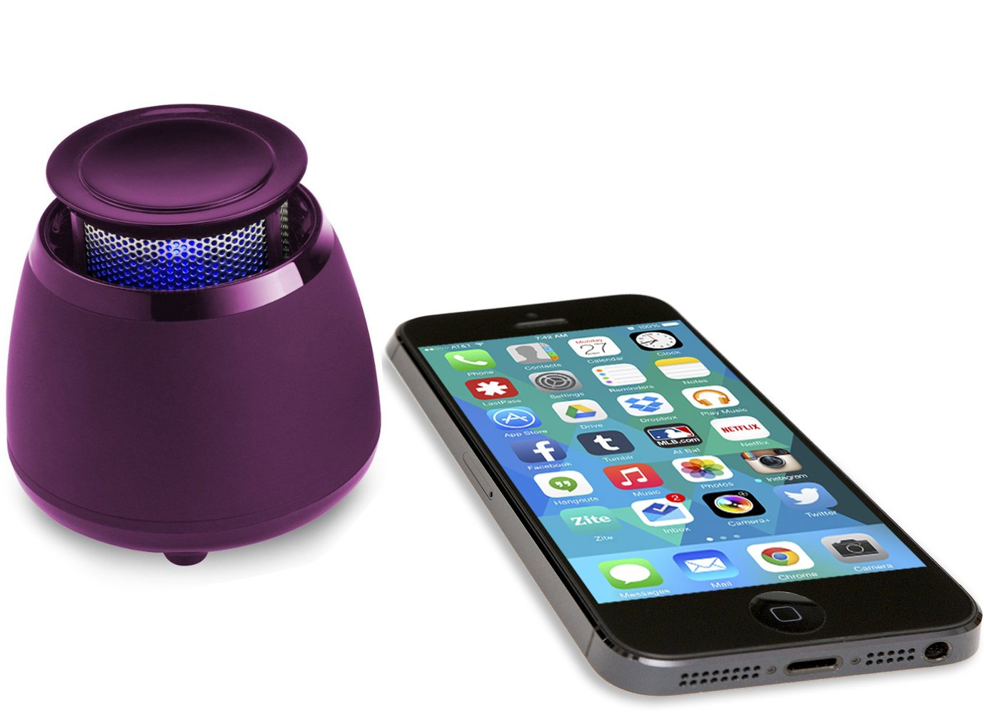 BLKBOX Wireless Bluetooth Speaker POP360 Hands Free Bluetooth Speaker - for iPhones, iPads, Androids, Samsung and all Phones, Tablets, Computers (Party Purple)