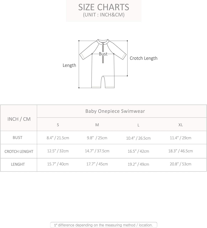 VAENAIT BABY 0-6M Infant Boys One Piece Swimsuit Rash Guard Shirts Swimwear with Flap Cap