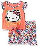Hello Kitty Big Girls' Skirt Set, Orange, 8