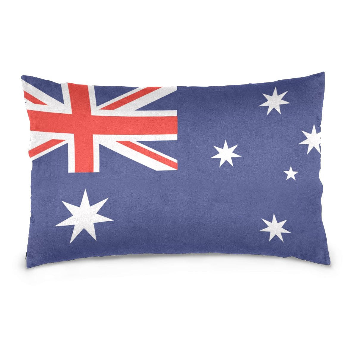 Top Carpenter Australia Flag Velvet Oblong Lumbar Plush Throw Pillow Cover/Shams Cushion Case - 20x36in - Decorative Invisible Zipper Design for Couch Sofa Pillowcase Only