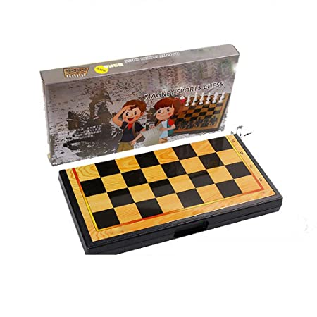 Juegos de ajedrez Juego de ajedrez magnético Tablero plegable ...