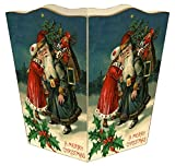 WB8544 - Santa with Girl Wastepaper Basket
