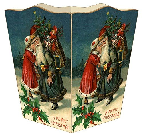 WB8544 - Santa with Girl Wastepaper Basket