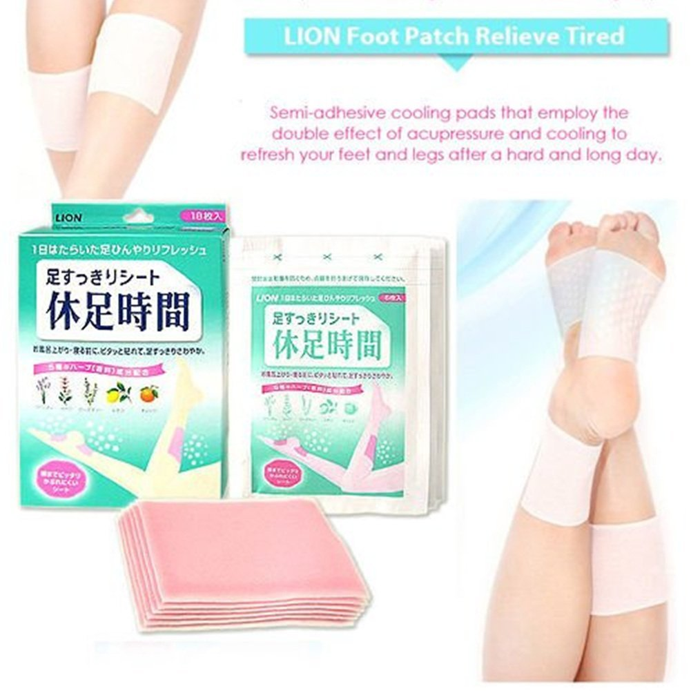 LION Foot Patch Relieve Tired Resting Time Neat Foot 6pcs X 4Set = 24pcs