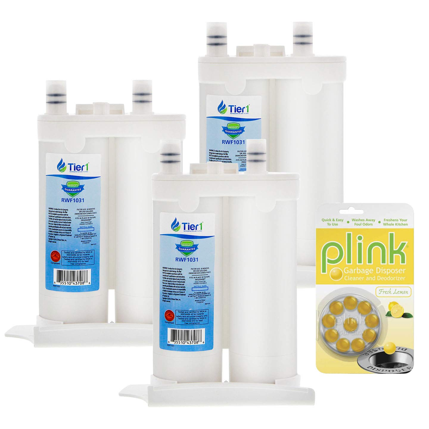 Tier1 Replacement for Frigidaire WF2CB Electrolux EWF01 / EWF2CBPA Refrigerator Water Filter (3 Pack
