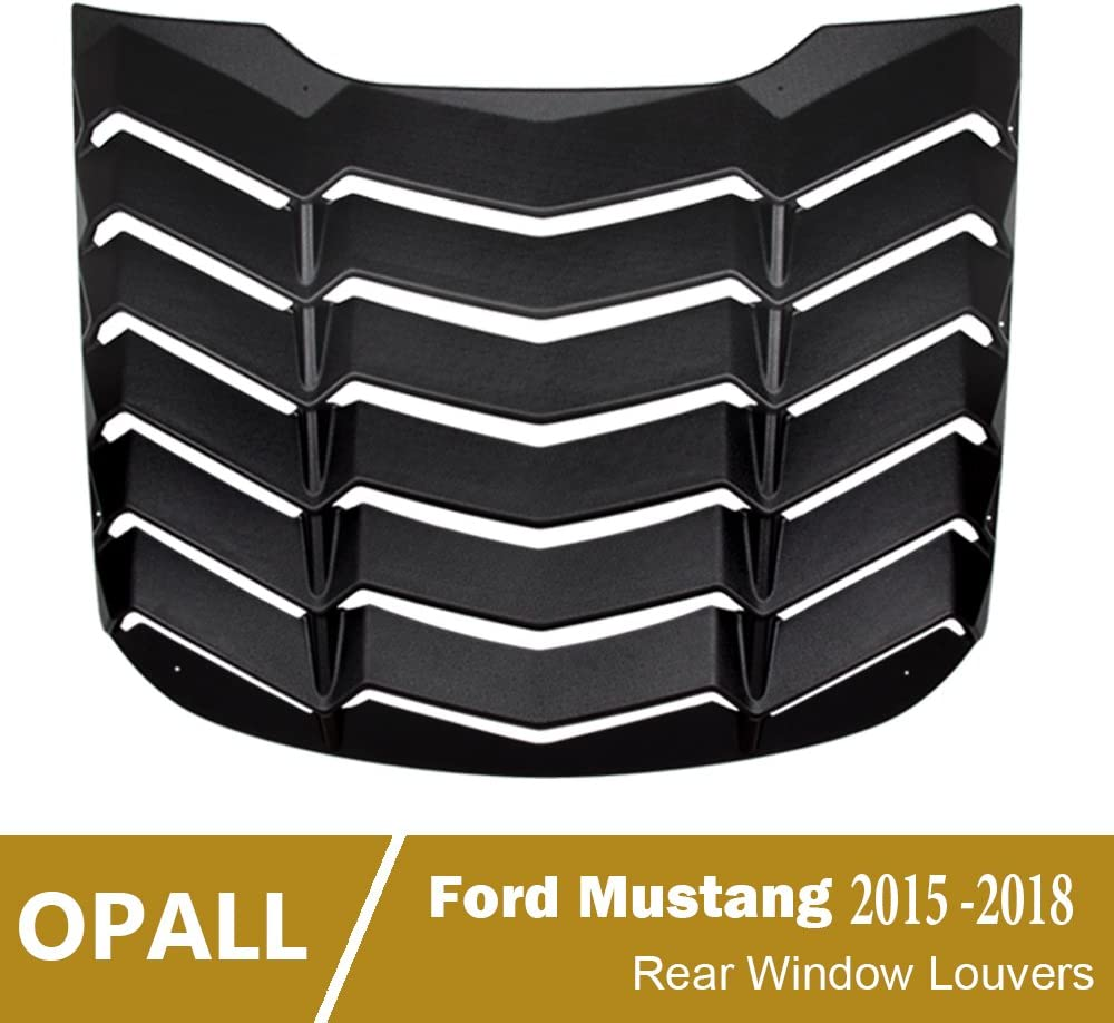 ABS Rear Window Louvers Scoop Louvers GT Lambo Style in Matte Black fits for Mustang 2015 2016 2017 2018 2019 2020