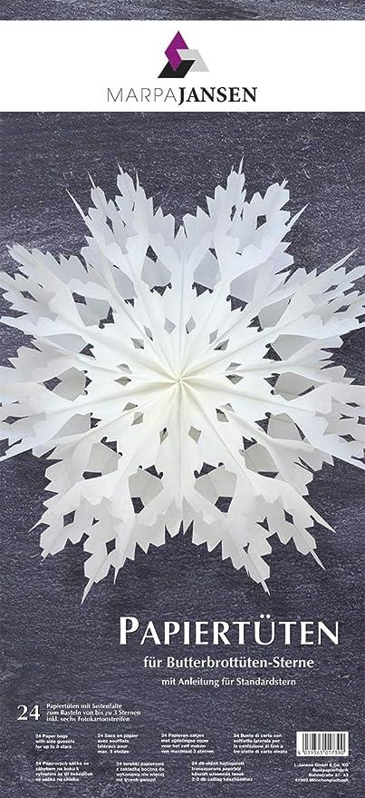 Marpajansen Papiertüten Für Deko Sterneblüten Bastelset
