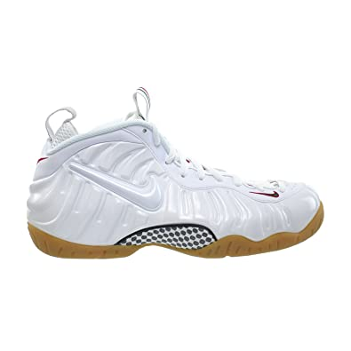 new concept 40ec8 5f0dd Nike Air Foamposite Pro Men's Shoes White/White-Gym Red-Green 624041-102