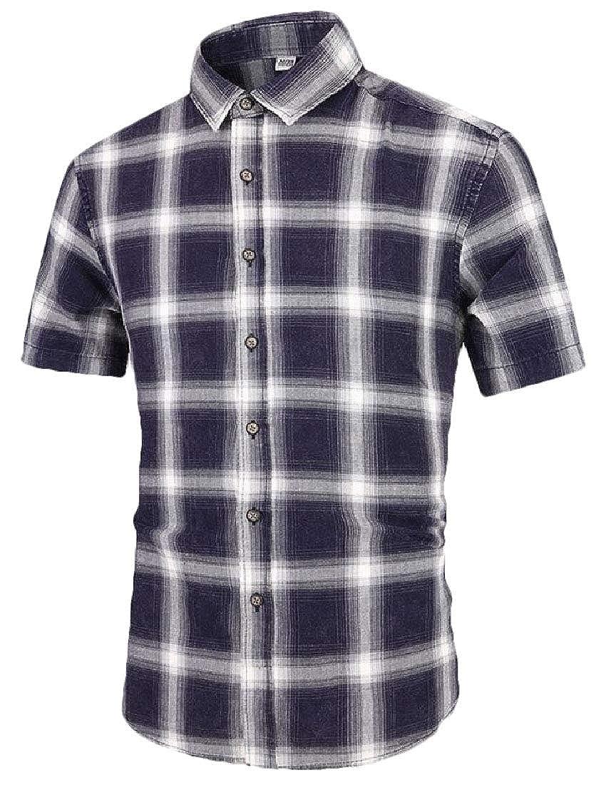 Beloved Mens Button Down Shirt Short Sleeve Regular Fit Button Down Shirt