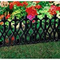 French Inspired Black Border Fencing - 2 Sets (4 pieces per set)