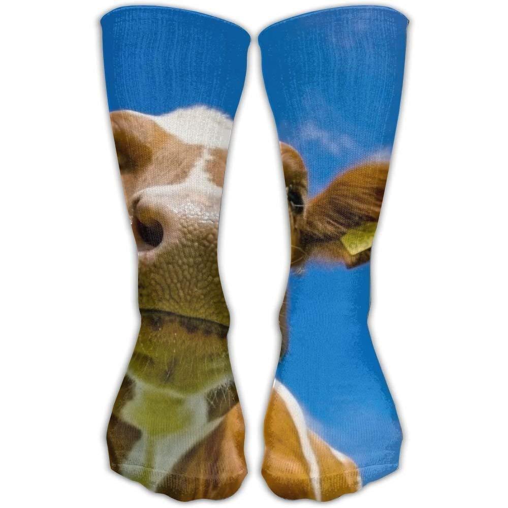 YuanHu Calze Personalizzate da Mucca Animale Carino Calze Sportive Sportive 11,8 Pollici Calza Lunga per Uomo Donna
