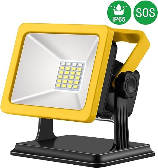 AlierGo 15W Foco LED Proyector de Luz Recargable Lámpara Camping ...