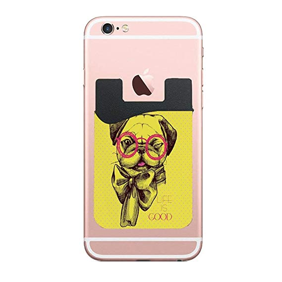 Amazon com: Pug an Intellectual Dog with Glasses and a Wink