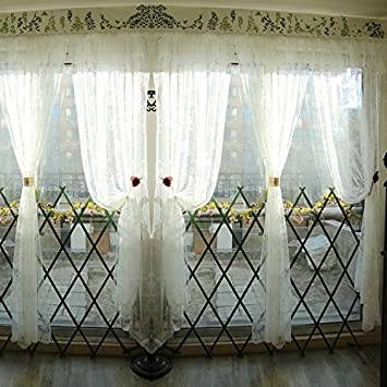 Fadfay Vintage Floral Sheer Rideaux Pour Le Salon La Fancy Europeen