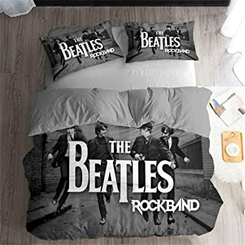 Buy Lans The Beatles Rock Music Series Bedding Set Duvet Cover And Pillowcase Bedroom Three Piece Bedding Duvet Cover 2 Pillowcases Twin Full King Bed B King 228265cm Online At Low Prices In