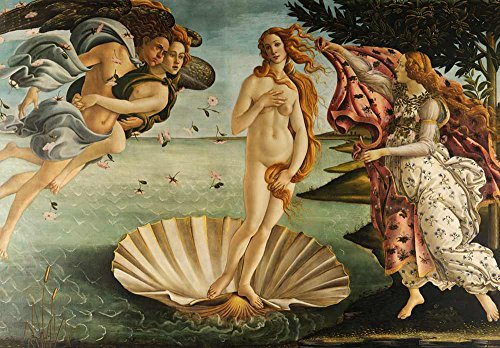 The Birth of Venus by Sandro Botticelli Early Italian Renaissance Florentine School Peel and Stick Large Wall Mural Removable Wallpaper