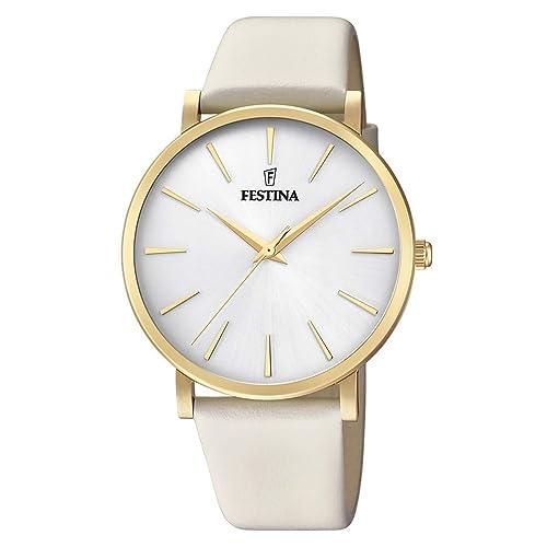 Festina Reloj Mujer Piel Fondo Blanco f20372/1