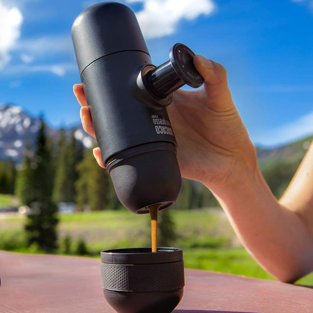 Wacaco Minipresso NS, Portable Espresso Machine, Compatible Nespresso Original Capsules and Compatibles, Hand Coffee Maker, Travel Gadgets, Manually Operated, Perfect for Camping