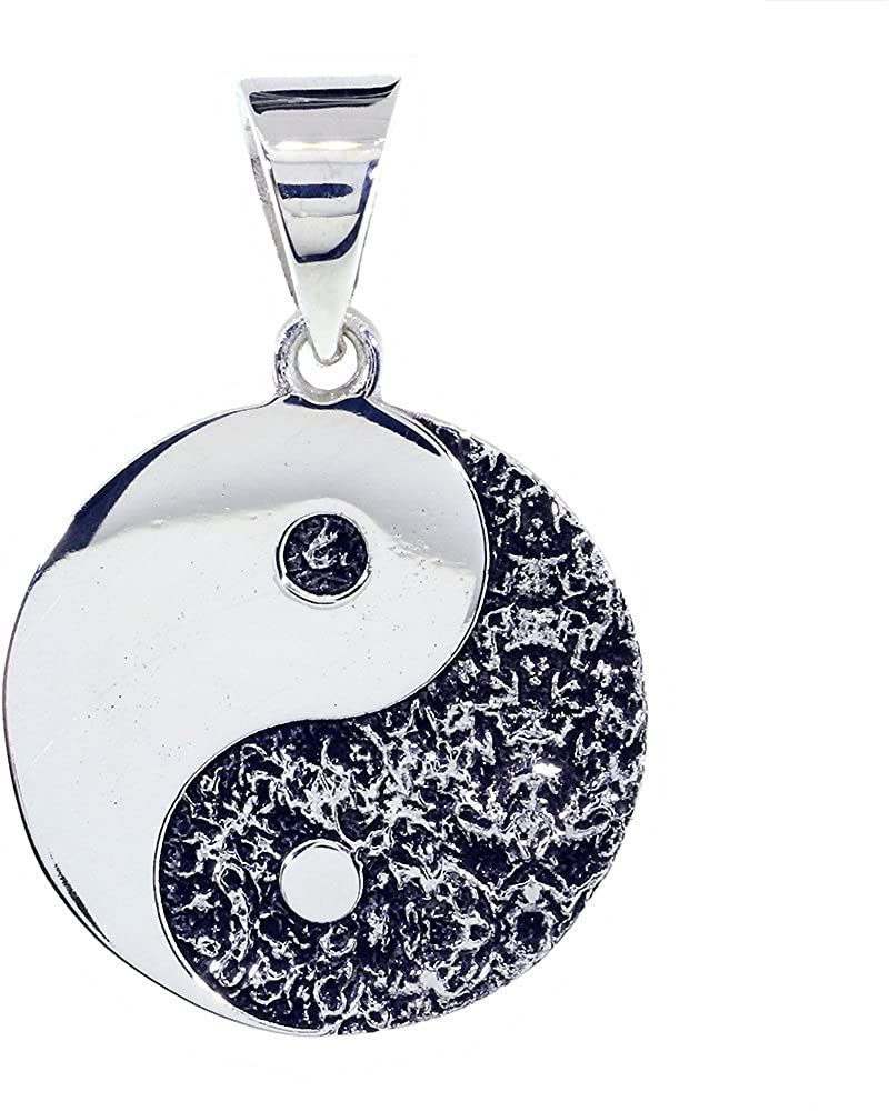 Yin Yang Small Chinese Symbol .925 Solid Sterling Silver Charm MADE IN USA