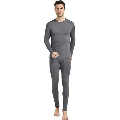 Mens Winter Ultra-Soft Fleece Lined Thermal Top Long Johns Sleeve Underwear Warm
