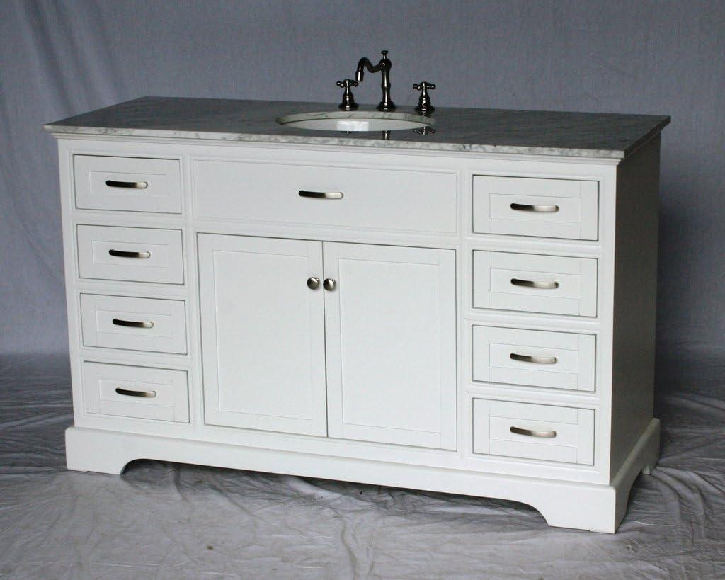 56 Inch Contemporary Style Single Sink Bathroom Vanity Model 2422 56 Wk Amazon Ca Tools Home Improvement