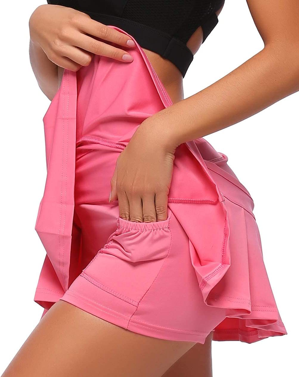 Womens Running Skorts Casual Gym Tennis Skort with Shorts Inner UDIY Sports Skirt
