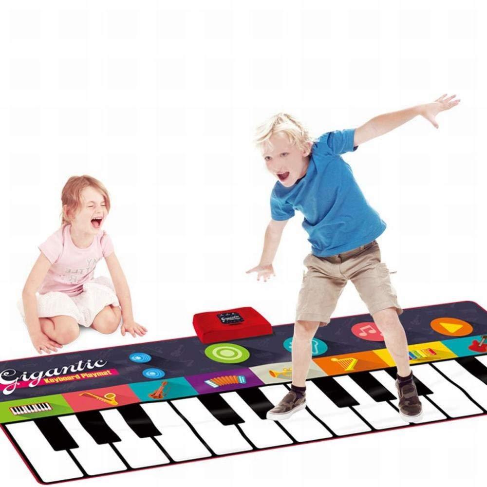 Desconocido Juguete Musical Estera para Piano, Teclado para Piano Enorme, Estera para Piano para Niños, Juego de Baile para Fiestas, Música Divertida para ...