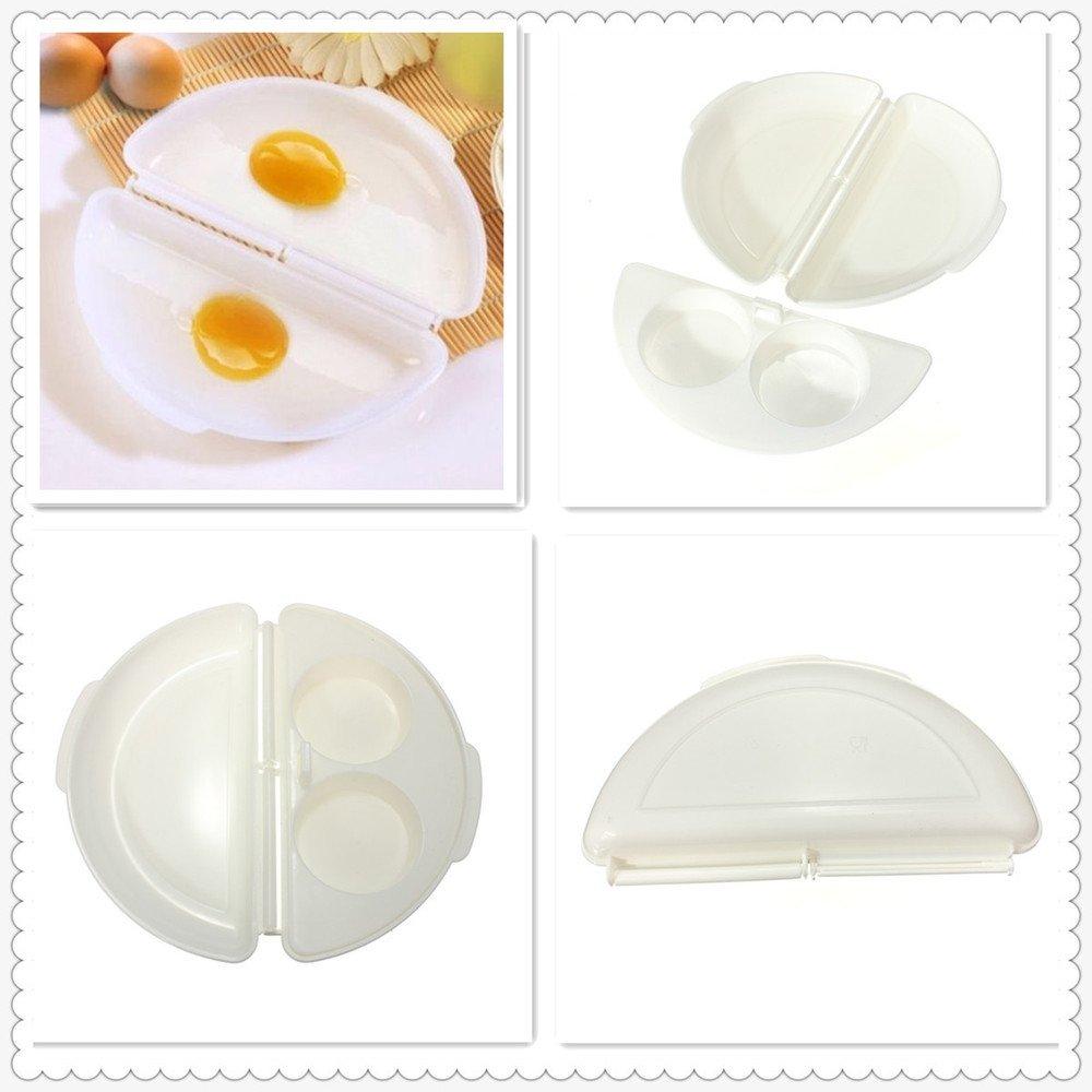 FEDBNET 1 Pieza Microondas Omelette Maker Dos Huevos Microondas Omelet Olla Sartén Horno Microondas Omelette Huevos Vaporizador Hogar Cocina