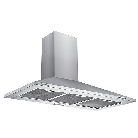 Ciarra 90cm Stainless Steel Chimney Cooker Hood 900mm Range Hood Kitchen  Extractor Fan