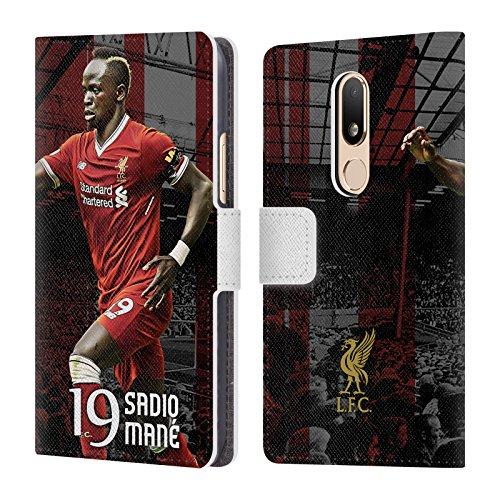 Official Liverpool Football Club Sadio Mané 2017/18 First Team Group 1 Leather Book Wallet Case Cover For Motorola Moto M