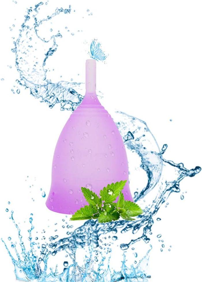Copas menstruales, tazas de período reutilizables antes y ...