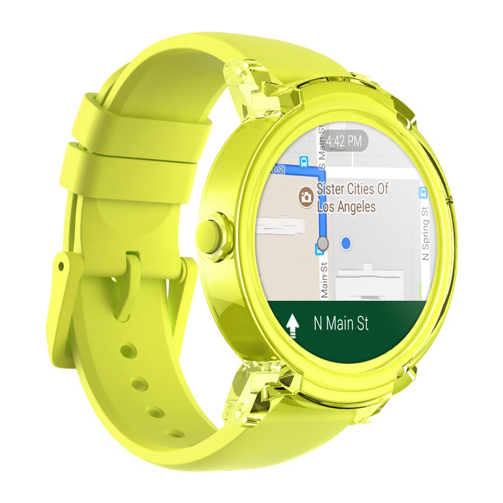 TicWatch S/E Bluetooth Smart Watch, Google Assistant, Wear OS by Google  Smartwatch,Compatible with iPhone and Android (Lemon, E)