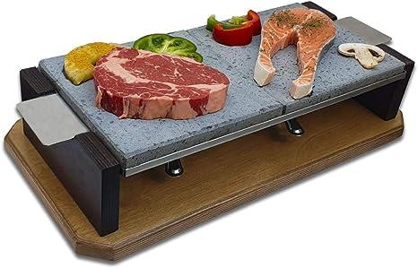 Piedra para Carne de 20x40 con Dos quemadores Modelo Dumbo