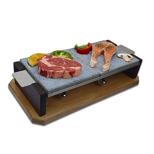 Piedra para Carne de 20x40 con Dos quemadores Modelo Dumbo: Amazon.es