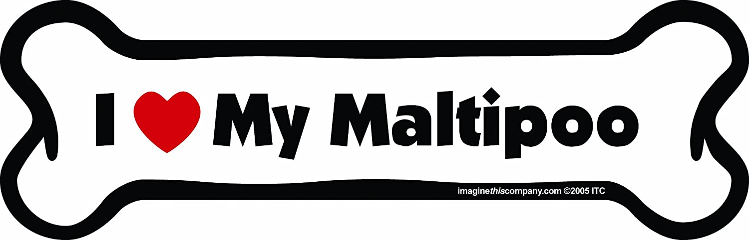 Imagine This Bone Car Magnet I Love My Pit Bull 2-Inch by 7-Inch Imagine This Company B0167