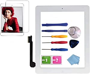 NewHail Glass Touch Screen Digitizer Replacement for iPad Air 2 Glass 2nd Gen A1566 A1567 with Screen Protector, Instruction Manual,and Repair Toolkit
