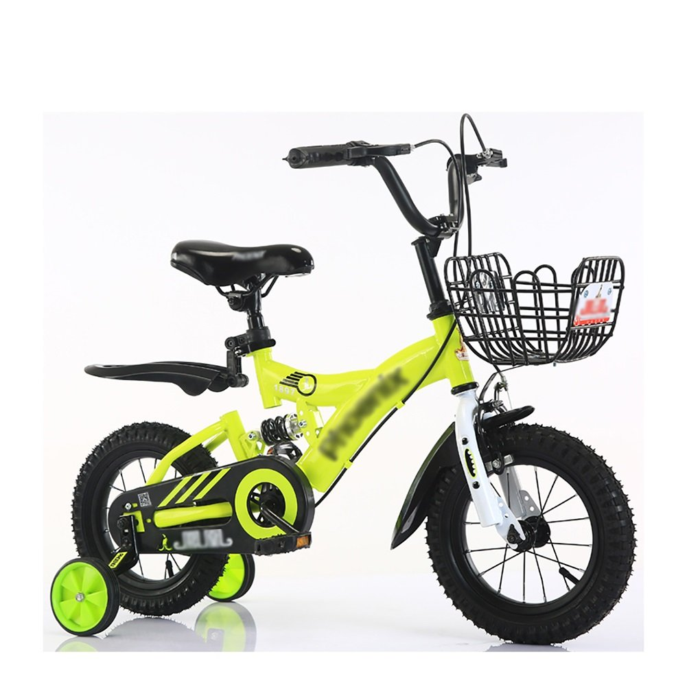 子供ペダルバイク子供用自転車2-10歳の赤ちゃん少女キャリッジバイク黄色の青い赤 12 inch イエロー いえろ゜ B07DV6J1MY