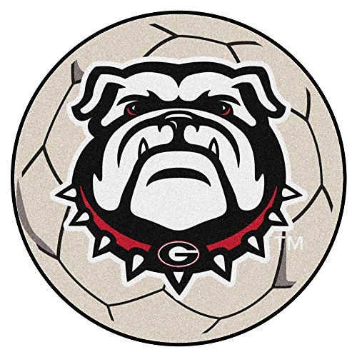(NCAA University of Georgia Bulldogs Soccer Ball Mat Round Area)