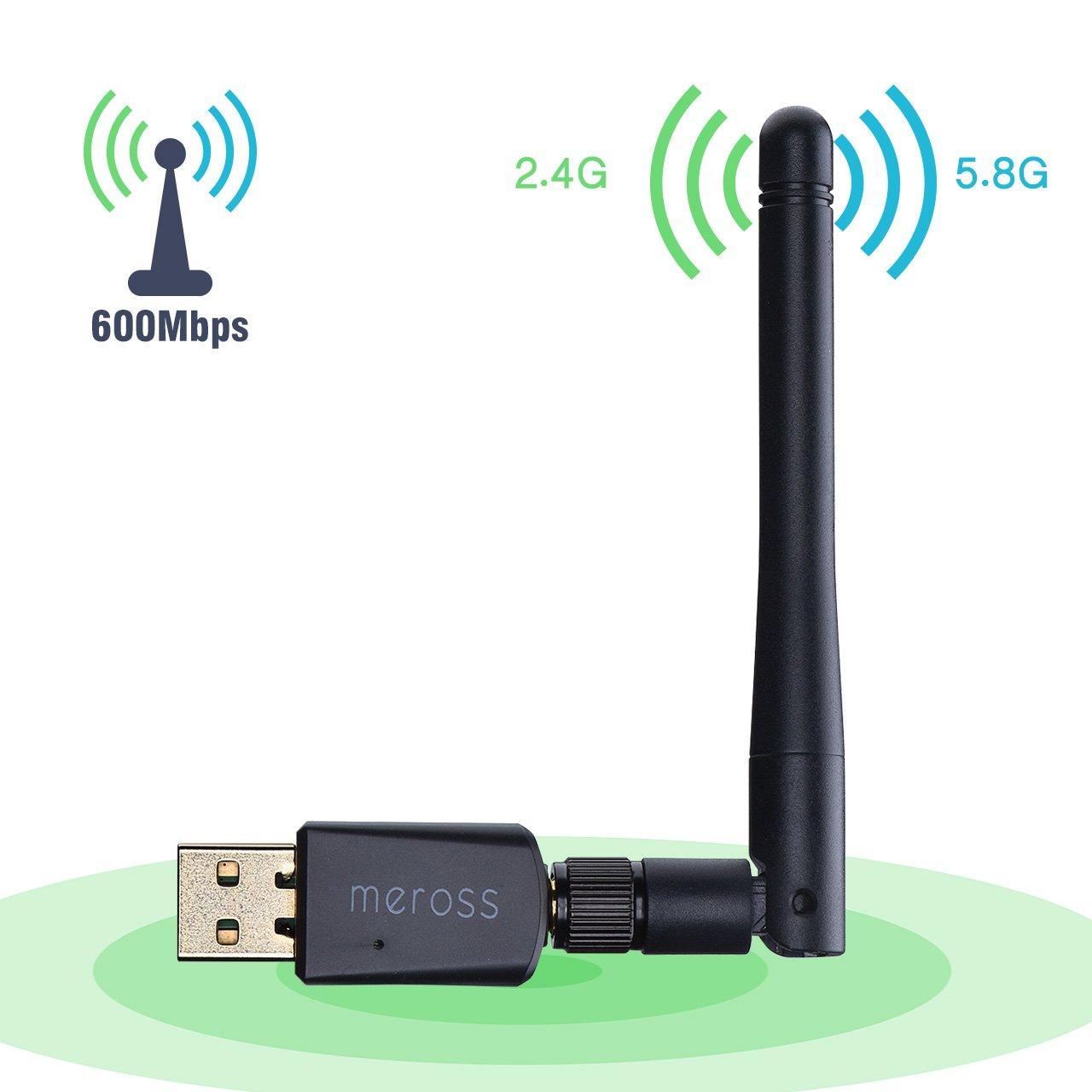 VicTsing Adaptador Antena WiFi USB Largo Alcance 600Mbps, Adaptador Inalámbrico,Dual Band (5GHz