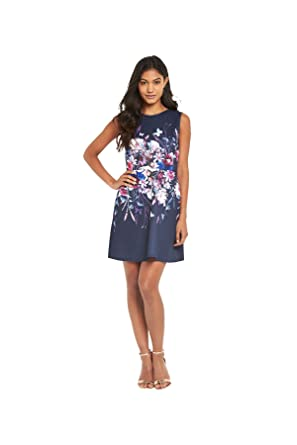 6a331496af26 Lipsy Butterfly Skater Dress In Navy Multi Size 12  Amazon.co.uk  Clothing