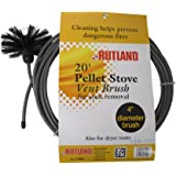 Rutland 4-Inch Pellet Stove/Dryer Vent Brush with 20-Feet Handle