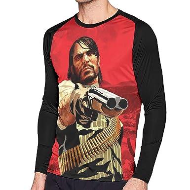cf0c9aaf7 Amazon.com: Men's Sweatshirt Kill You Red Dead Re-de-mptio-2 Long Sleeve T  Shirt 3D Print Casual Graphic Tee Shirt For Men: Clothing