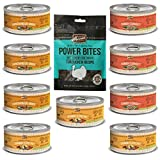 Merrick Grain Free Canned Dog Food 3 Flavor Variety Bundle (9 Cans, 3.2 Oz Ea) Plus Merrick Grain Free Soft & Chewy Turducken Power Bites Dog Treats(1 Bag, 6 Oz) -- 10 Items Total
